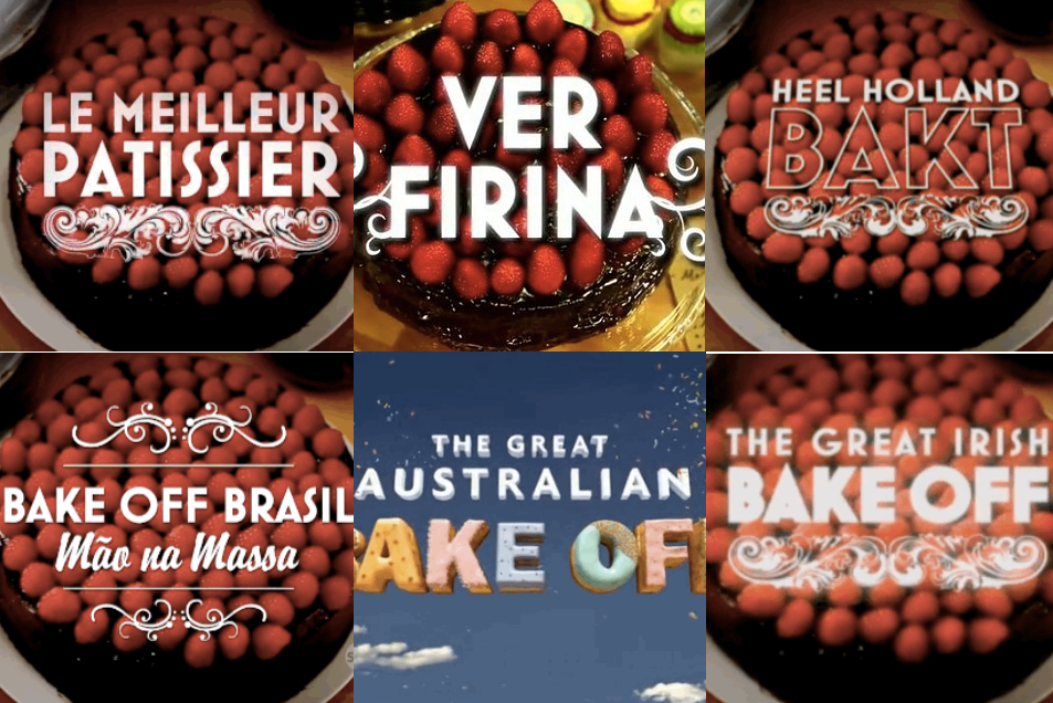 Great Global Bake Off - title cards