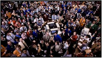 Trading Places - the market looks on